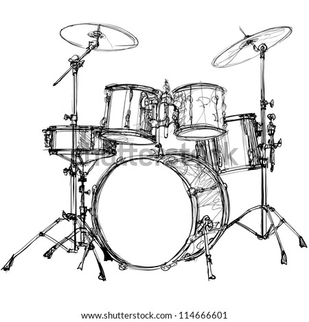 Vector Illustration Of A Drum Kit