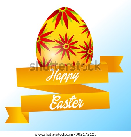 Vector illustration of a Easter Egg Background for Happy Easter.