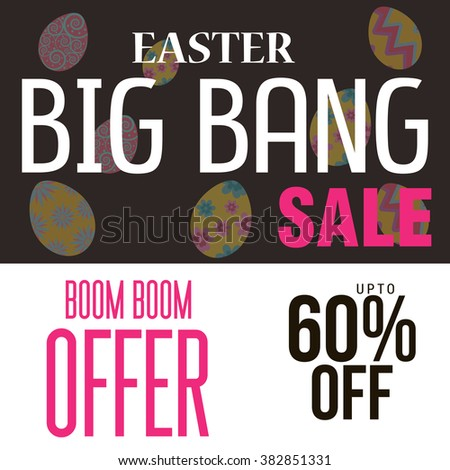 Vector illustration of a Easter Sale Background for Happy Easter.