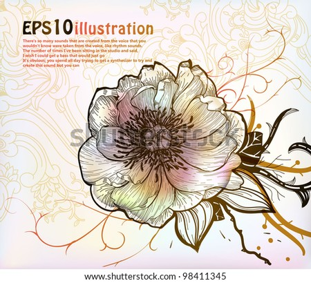 vector  illustration of a fantasy blooming flower. eps10 - stock vector