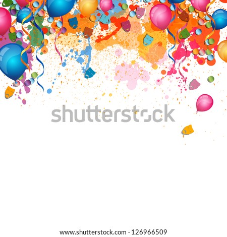 Vector Illustration of a Festive Background - stock vector