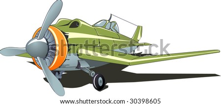 Vector illustration of a fighter - stock vector
