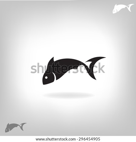 Vector illustration of a fish - stock vector