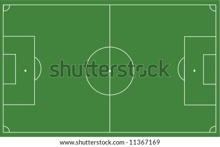 vector illustration of a football pitch - stock vector