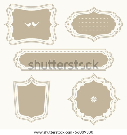 Vector illustration of a frame set. - stock vector