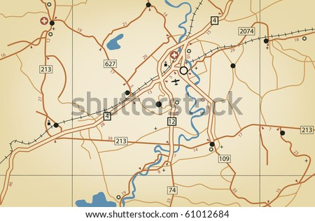 Vector illustration of a generic nameless roadmap - stock vector