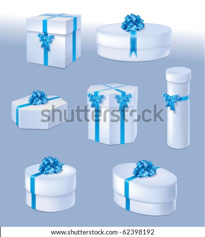Vector illustration of a gift box with a bow. - stock vector