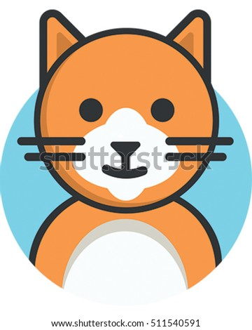 Vector Illustration of a Ginger Cat. A Cute Domestic Animal.