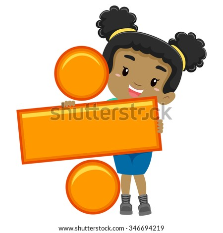 Printables Division division stock photos royalty free images vectors shutterstock vector illustration of a girl holding symbol