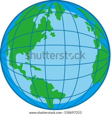 Vector illustration of a globe