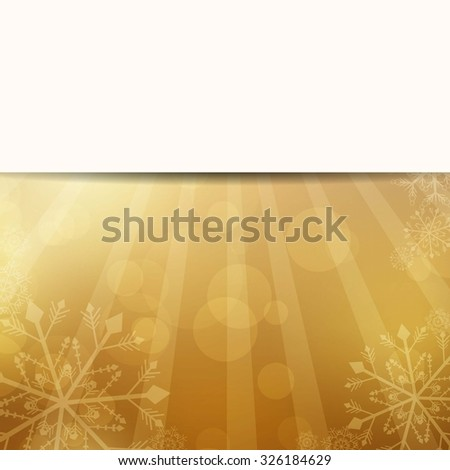 Vector Illustration of a Golden Christmas Background - stock vector