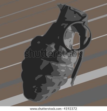 vector illustration of a granade - stock vector
