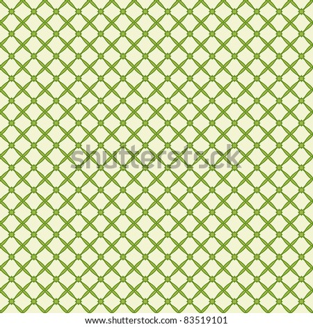 Vector illustration of a green abstract seamless pattern. - stock vector