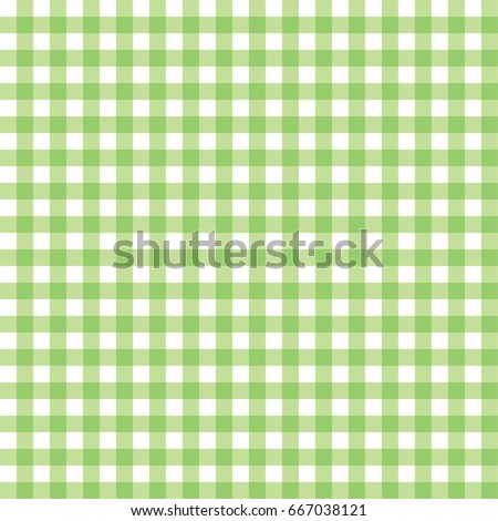 Vector illustration of a green gingham pattern on a white background