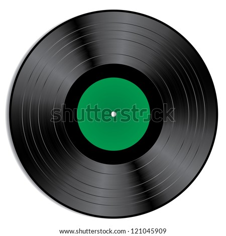Vector illustration of a green vinyl.