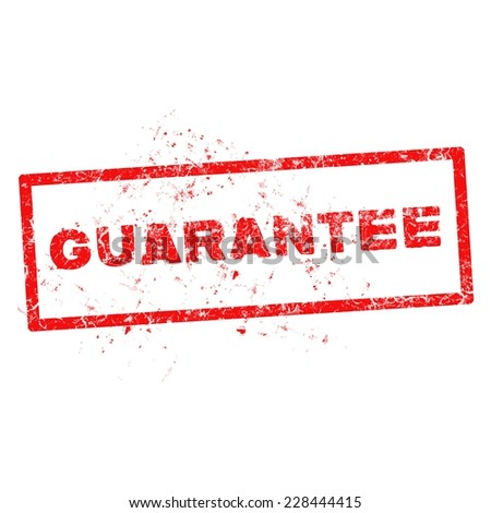 Vector illustration of a grunge rubber ink stamp guarantee. - stock vector