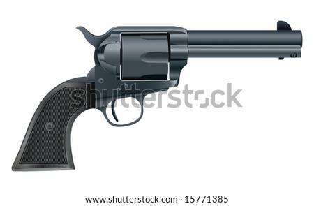 Vector illustration of a gun isolated on white background