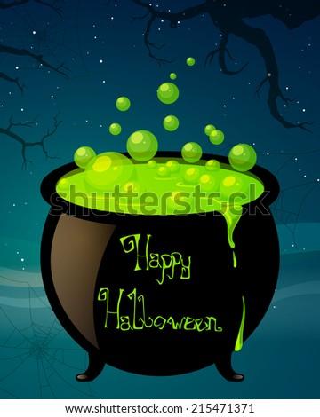 Vector Illustration of a Halloween Design - stock vector