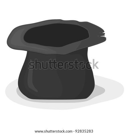 Vector illustration of a hat beggar - stock vector