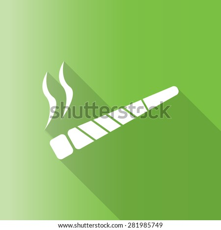 vector illustration of a joint or spliff. Drug abuse. Illegal drug activity with long shadow. - stock vector