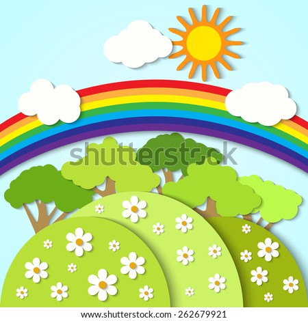 Rainbow Tree Stock Images Royalty Free Images Amp Vectors