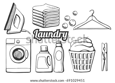A of a pile of laundry coloring pages for Laundry coloring pages