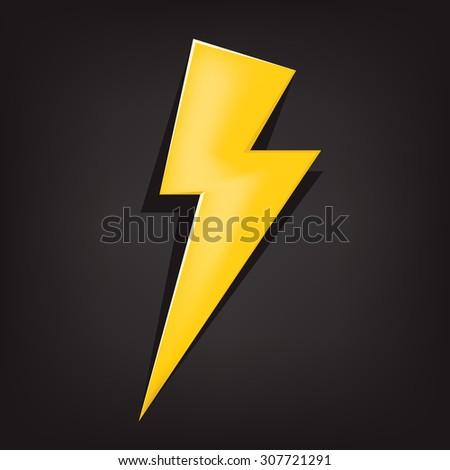 vector illustration of a lighting bolt - stock vector