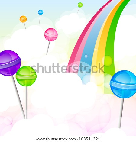Vector illustration of a lollipops - stock vector