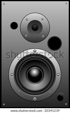 Vector illustration of a loudspeaker.