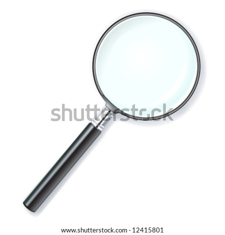 vector illustration of a magnifying lens - stock vector