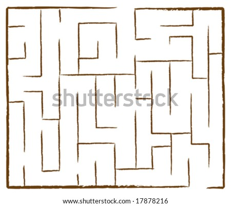 Vector Illustration of a Maze Game - stock vector
