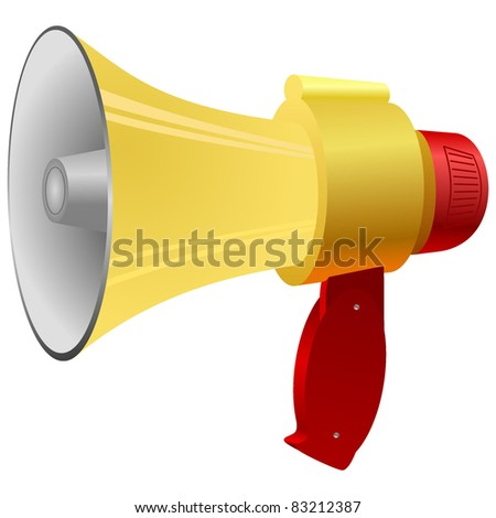 Vector illustration of a megaphone. - stock vector