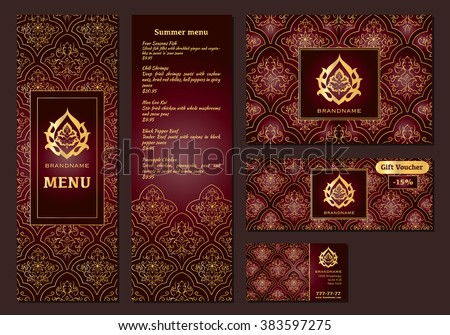 Vector illustration menu restaurant cafe arabian stock for Arabian cuisine menu