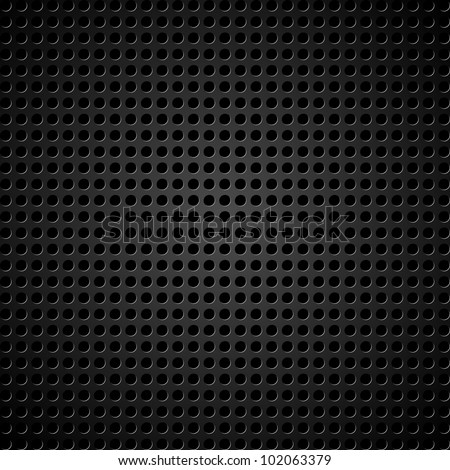 Vector illustration of a metallic background with holes - stock vector