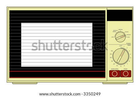 Vector illustration of a microwave oven
