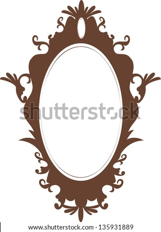 Vector illustration of a mirror - stock vector