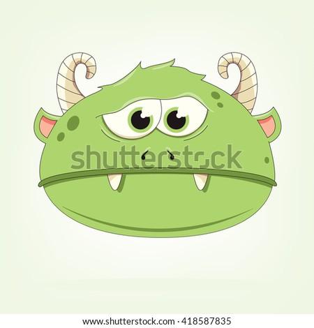 vector illustration of a monster - stock vector