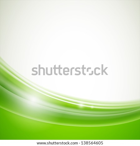 Vector Illustration of a Natural Green Background - stock vector