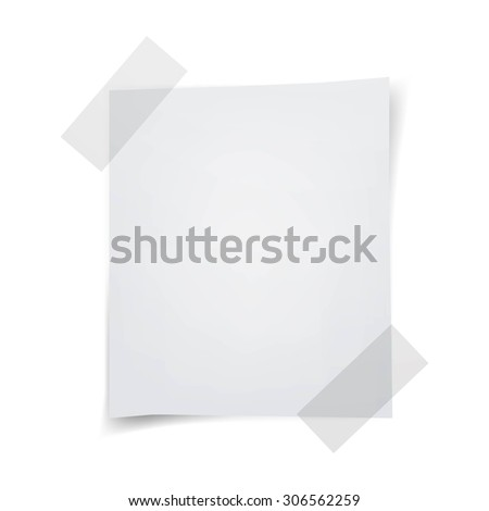 Vector Illustration of a Note Paper - stock vector