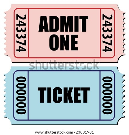 vector illustration of a pair of tickets isolated on white - stock vector