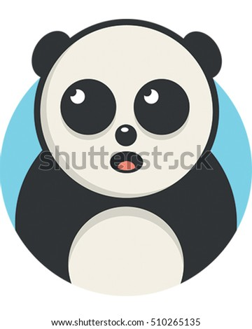 Vector Illustration of a Panda. A Cute Endangered Animal.