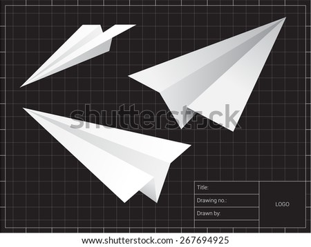 Paper Plane Tutorial Vector Stock Vector 130829135 - Shutterstock