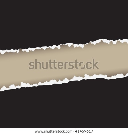 Vector - Illustration of a paper tear in the middle with rough edges