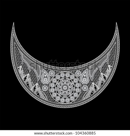 Vector illustration of a pattern on a black background - stock vector