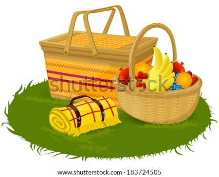 Picnic Basket Stock Photos Images Amp Pictures Shutterstock