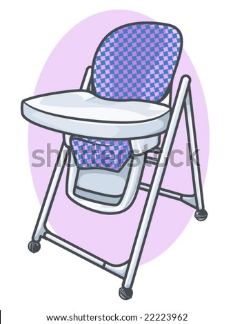 vector illustration of a plastic baby high chair.. all elements on separate layers  sc 1 st  Shutterstock & Vector Illustration Plastic Baby High Chair Stock Vector 22223962 ...
