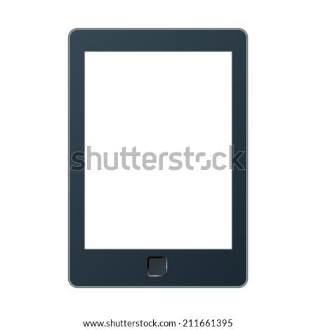 Vector illustration of a portable modern tablet pc e-book reader. - stock vector