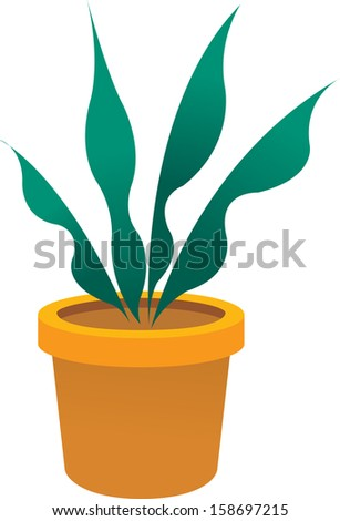 Vector illustration of a potted plant