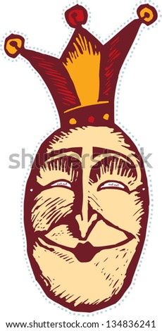 Vector illustration of a queen mask
