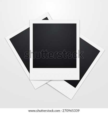 Vector illustration of a realistic instant Photo - stock vector